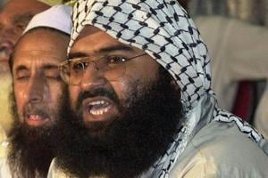 Chief of Pakistan-based terror outfitJaish-e-Mohammad, Masood Azhar (R), is said to be bed-ridden for at least 18 months with a life-threatening ailment.