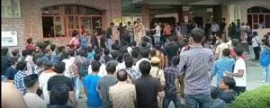 Greater Noida's Sharda University has suspended eight students including two Afghans for the violence on the campus between October 1 and October 4.