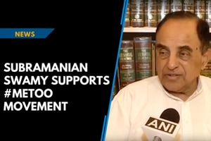 Subramanian Swamy supports #MeToo movement