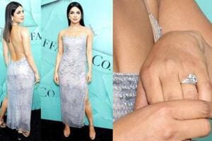 Priyanka Chopra stole the show with her diamond engagement ring, when she attended a Tiffany party in New York. (Instagram)