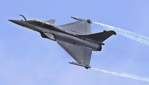 A Rafale fighter aircraft at an air show in Bengaluru.