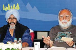 Kishie Singh (left) and Rahul Singh during a press conference in Chandigarh on Wednesday.