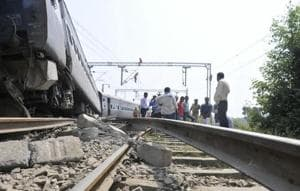 The sudden derailment shattered 500 railway sleepers and badly damaged the track up to 9 metres.