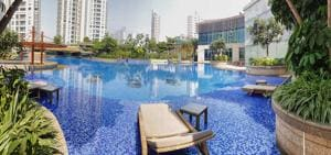 Vivarea by K Raheja Corp has an aqua gym with three underwater treadmills.