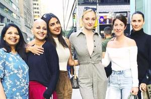 Priyanka Chopra has surrounded herself with plenty of famous women friends, including Sonali Bendre and Sophie Turner, in her new Instagram.