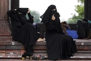 Muslim women inside Jama Masjid mosque in New Delhi (representative photo)