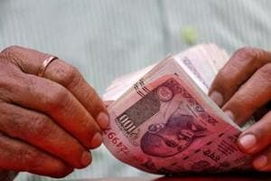 The rupee on Thursday fell by by 24 paise to hit another low of 74.45 against the US dollar .