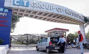 Security was tightened at the CT group of institutions at Shahpur near Jalandhar on Thursday.