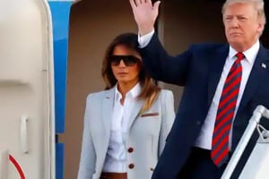 """Melania Trump says she loves President Donald Trump and has """"much more important things to think about"""" than allegations he cheated on her with a porn star, a Playboy Playmate or anyone else."""