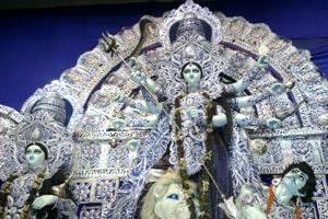 Durga puja pandals in Kolkata celebrate Supreme Court verdict on section 377