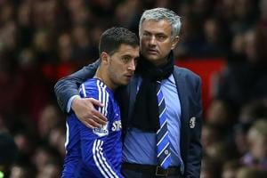 Eden Hazard will face his former manager Jose Mourinho when Chelsea host Manchester United in the league next Saturday.
