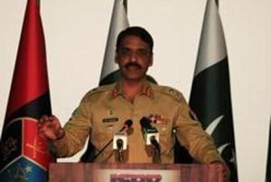 Director general of Inter Services Public Relations (ISPR), Maj. Gen. Asif Ghafoor speaks during a news conference in Rawalpindi, Pakistan on April 17.