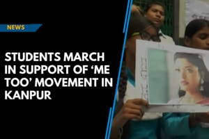 Students march in support of 'Me Too' movement in Kanpur