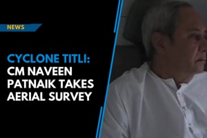 Cyclone Titli: CM Naveen Patnaik takes aerial survey