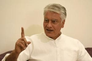 President of Punjab Pradesh Congress committee Sunil Jakhar during an interview in Chandigarh on Saturday.