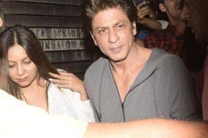 Shah Rukh Khan and his wife Gauri Khan at filmmaker Zoya Akhtar