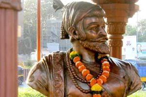 A statue of the Maratha king Shivaji