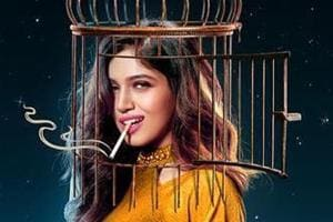Bhumi Pednekar in the poster for Dolly Kitty Aur Woh Chamakte Sitare.