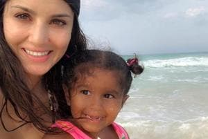 Sunny Leone shared a cute birthday message for her daughter on Instagram.