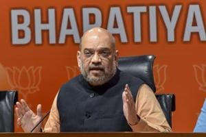 BJP National President Amit Shah addresses a press conference at the party headquarters, in New Delhi on Tuesday, July 31, 2018. (PTI Photo/Manvender Vashist) (PTI7_31_2018_000140B)