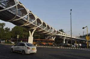 The skywalk at ITO in central Delhi, that will be opened on October 15, 2018 by Union minister Hardeep Puri, has become mired in controversy with Delhi's AAP government and the Centre trading charges over its inauguration.