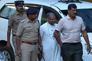 Bishop Franco Mulakkal, accused of raping a nun, seen outside a crime branch office on the outskirts of Kochi in Kerala, September 19, 2018.
