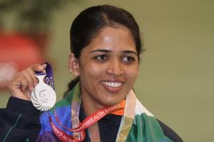 Tejaswini Sawant, women's 50m rifle prone, won gold at the Gold Coast 2018 Commonwealth Games in Australia.