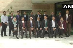 Afghan diplomats at the inauguration of the Joint India-China Training Programme in New Delhi .