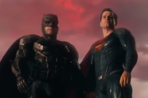 Ben Affleck and Henry Cavill as Batman and Superman in a still from Justice League.