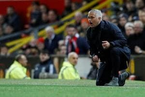 File image of Manchester United manager Jose Mourinho reacting on the touchline during a match.