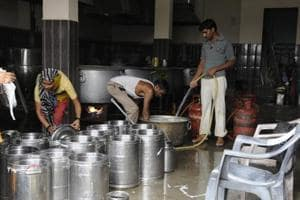 Mid day meal being prepared for an Anganwadi school in New Delhi, July 18. Much like many other schemes, Anganwadi too faces a problem of inadequate resource allocation. In the Anganwadi and ICDS at least Rs 34,575 crores should be allocated as against the expenditure of Rs 14,632 crores in 2016-17.