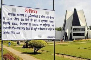 The Punjabi University authorities have banned all kinds of protest within 300m of the campus, in Patiala on Monday.