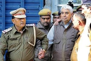 Rampal being produce in the Punjab and Haryana High Court for a hearing.