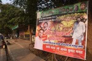 A poster in Patna showing RJD leader Tejashwi Prasad Yadav as Ram and chief minister Nitish Kumar as Ravan has sparked off a political row