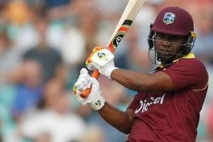 File image of opener Evin Lewis in action for West Indies.