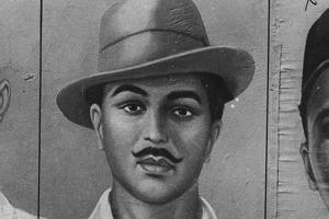 A photo of freedom fighter Bhagat Singh.