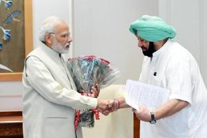 Capt Amarinder met Narendra Modi in Delhi on Thursday to press for compensation to farmers in lieu of stubble burning.