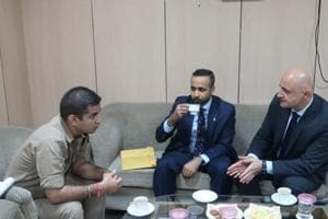 The meeting of officers of FBI, Canada Police and Interpol was held at the office of senior superintendent police, Gautam Budh Nagar, Wednesday, October 18, 2018.