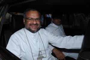 Former bishop Franco Mulakkal in Jalandhar on Wednesday.