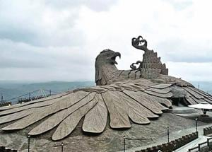 The Jatayu sculpture is the world's largest bird sculpture