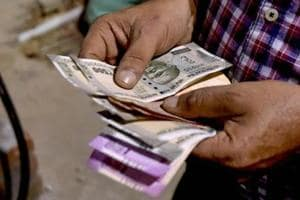 The rupee recovered from early losses to trade higher by 19 paise at 73.42 against the US currency in late morning session Friday