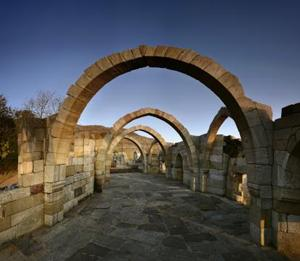 CHAMPANER, GUJARAT: The seven arches or Saat Kaman stand near the southern face of the Pavagarh hill fortress. Built by the Solanki kings in the 15th or 16th century, it was captured by Sultan Mahmud Begadah in 1484 and renamed Muhammadabad. Today, only six of the seven sandstone arcs remain of the strategic military outpost.