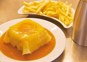 The Francesinha sandwich, a Porto speciality with melted cheese, is the best sandwich