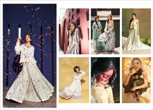 Presenting new ways to turn heads at a modern Indian wedding. (Location courtesy: The Roseate; Styling: Avneet Chadha; Art Direction:Amit Malik;Make-up and hair: Artistry by Anjali Jain; Models: Tatiana (La Creme Productions) and Sanjana)