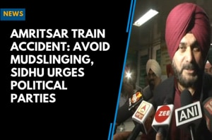 Amritsar Train Accident: Avoid mudslinging, Sidhu urges political parti...