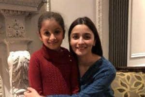 Alia Bhatt with Mahesh Babu's daugter Sitara.