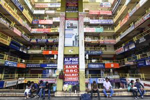 Five storeys of hoardings greet students at an 'education mall' in Lalpur, an IIT-JEE coaching hub in Ranchi. The number of coaching centres has shot up from 200 in 2012 to about 10,000 this year, according to the Jharkhand Coaching Association.