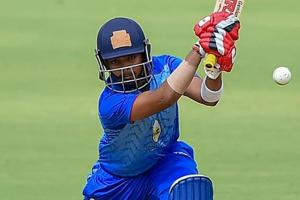 Prithvi Shaw opened the batting for Mumbai and scored eight.