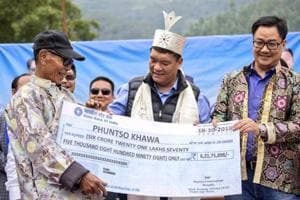 More than  56 years after India's war with China, villagers of Arunachal Pradesh have received nearly Rs 38 crore as compensation for the land acquired by the Army to set up its bases, bunkers and barracks.