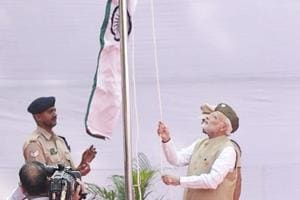 Prime Minister Narendra Modi at the Red Fort to mark the 75th anniversary of the proclamation of 'Azad Hind Sarkar.'
